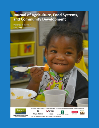 Cover of JAFSCD with child eating local cantaloupe