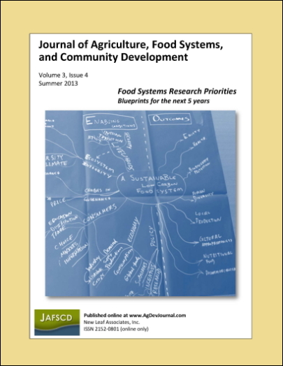 Cover of JAFSCD volume 3, issue 4