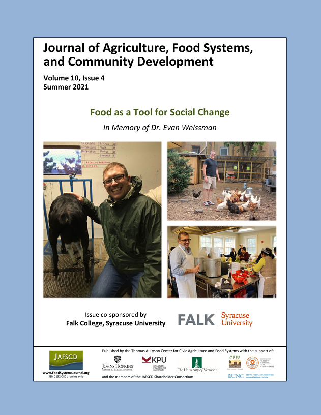"""Cover of the summer issue on the topic """"Food as a Tool for Social Change"""""""